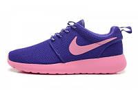 Кроссовки женские Nike Roshe Run  II pink-blue