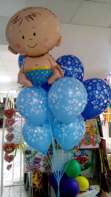 Композиция из шаров на рождение мальчика