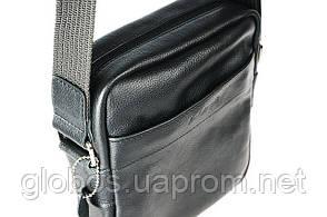 Сумка мужская через плечо, кожаная  Aesthetics guide 01-12 black, фото 2