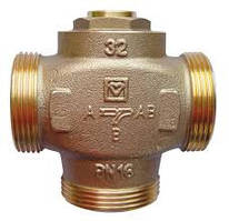 Триходовий термостатичний кран HERZ Teplomix DN 32 (для підвищення температури зворотної лінії)