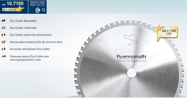 Фрезы отрезные Dry-Cutter Karnasch 10.7100 для конструкционной стали