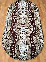 Стриженный ковер - полипропилен овальной формы  3-D Grystal