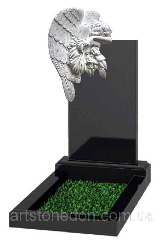 Памятник элитный с Ангелом из литьевого мрамора