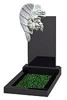 Памятник элитный с Ангелом из литьевого мрамора, фото 1
