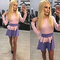 """Трендовое гламурное женское платье """"Модные цвета"""" 42-60р"""