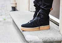 Кроссовки мужские Nike Air Force High Coal черные
