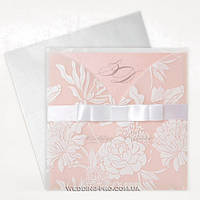 Элегантные свадебные пригласительные розового цвета