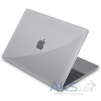 """Чехол Macally Hard shell protective case for MacBook 12"""" Transparent (MBSHELL12-C)"""