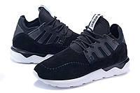 Кросівки чоловічі Adidas Tubular Moc Runner Suede чорні, фото 1
