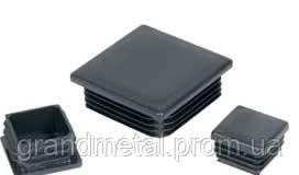 Заглушка квадратная черная внутренняя 60х60(3-4 мм)