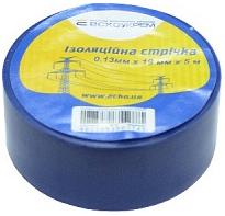 Изолента ПВХ 0,13х19мм синяя 5 метров
