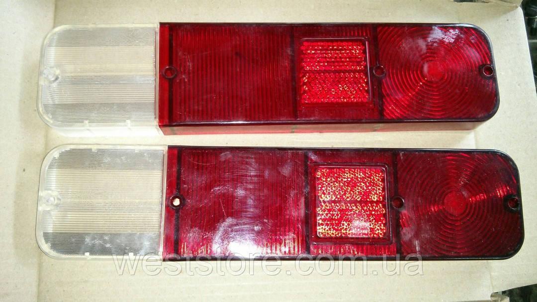 Рассеиватели задних фонарей (стекла) Москвич 412 (красное+белое) ккт 2 шт