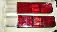 Рассеиватели задних фонарей (стекла) Москвич 412 (красное+белое) ккт 2 шт, фото 1