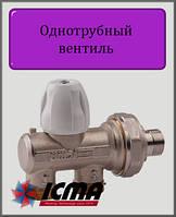 """Однотрубный ручной вентиль 1/2"""" 24х1,5 ICMA с фронтальной ручкой"""