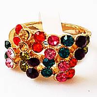 """Кольцо """"Кокетка"""", гипоаллергенный сплав. Камни вставки: кристаллы. Размеры 17, 19."""