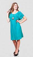 Платье женское свободного кроя большого размера