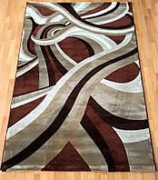 Рельефный прямоугольный коврик коричневого цвета 3-D Grystal