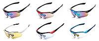 Спортивные очки Oakley 089 с UV400 (5 сменных линз) (БЕЗ поляризации), фото 1