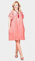 Модное женское платье большого размера с карманами