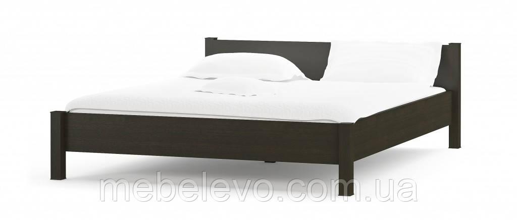 Кровать Фантазия 160 654х1724х2122мм венге темный + дуб самоа   Мебель-Сервис