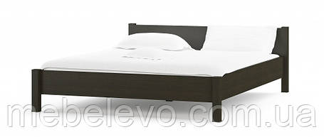 Кровать Фантазия 160 654х1724х2122мм венге темный + дуб самоа   Мебель-Сервис, фото 2