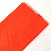 Креп-бумага плотность 24 г/м2 (0,5м*2 м). Цвет неоново-морковный.