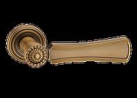 """Дверная ручка на розетке """"MVM"""" для входных дверей - модель """"RIM L"""", цвет: MACC - матовая бронза"""