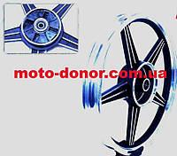 "Диск колесный задний литой 18Х1,85 (под резинки) ""звезда"" на мотоцикл Viper-125J"