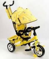 Детский трёхколёсный велосипед желтый