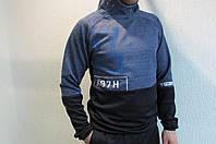 Мужская толстовка Reebok (8311) св.синяя с темно синим код 189в