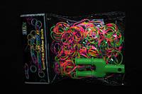 Набор для плетения браслетов Rainbow Loom Bands, 1 пакетик (200шт)