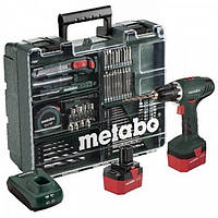 Metabo BS 12 NiCd (набор аксессуаров, 74шт.), Аку. Дрель-шуруповерт 12В