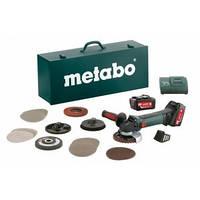 Metabo W 18 LTX 125 INOX -Ак. Угловая шлифовальная машина 18В + чемодан