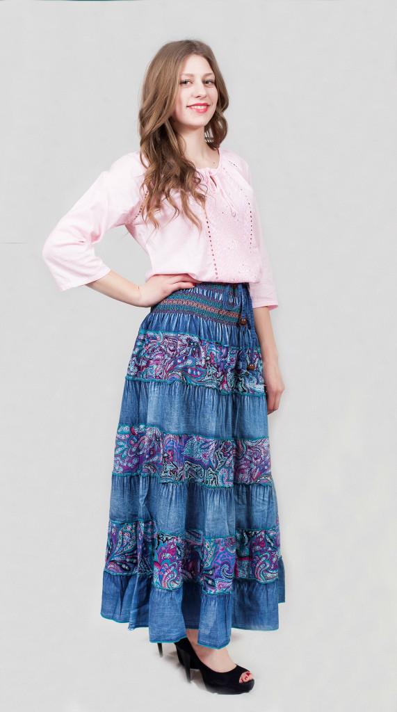 Длинная женская юбка на лето Индия