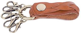Удобная мужская кожаная ключница ETERNO (ЭТЕРНО) ETB05-camel (коричневый)
