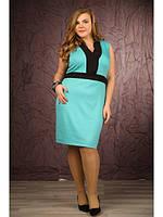Женское платье цвета мята (р. 48-90) арт. Атика