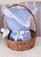 Конверт на выписку Фантазия  голубой, весна\осень, фото 1