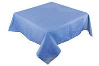 Скатерть столовая прямоугольная светло-синяя