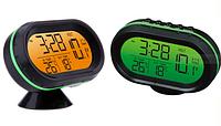 Профессиональный цифровой авто термометр, вольтметр, часы.