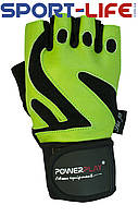 Перчатки для спортзала PowerPlay на липучке ЗЕЛЕНЫЕ