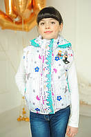 Куртка-жилетка 2 в 1 для девочки