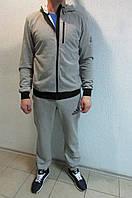Мужской спортивный костюм Adidas 6973-1 светло серый код 340б
