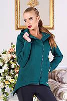 Модная толстовка с капюшоном зеленый, M