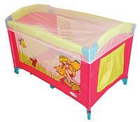 Детский манеж Mioo M100 NYMPH MELODY ROSE розово-зеленый