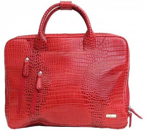 """Яркая сумка для ноутбука 15,6"""" Vip Collection 2411R croc красный"""