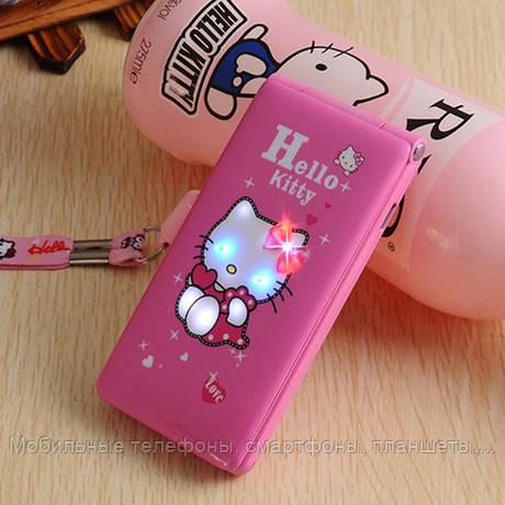Hello Kitty D10 модная раскладушка для девочек на 2 сим карты, хелло китти с сенсорным экраном - Мобильные телефоны, смартфоны, планшеты, ювелирные весы, домофоны в Харькове