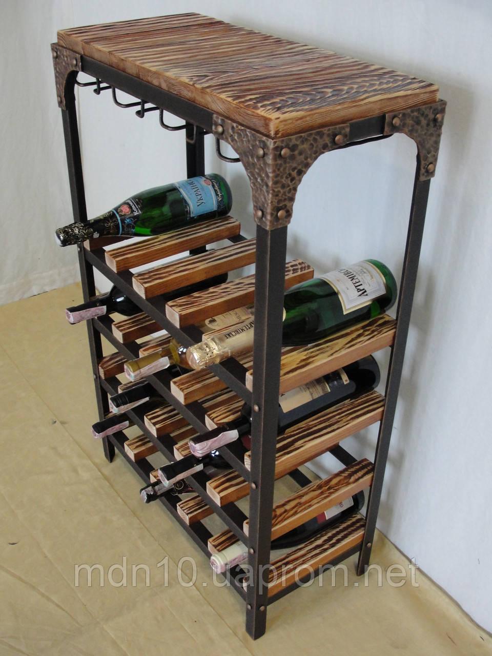 Стол-стелаж для вина LoftStyle  - 106