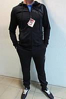Мужской спортивный костюм Reebok 2210-2 темно синий код 343б