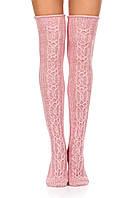 Гольфы Ohaina вязаные в косы 36-39  цвет розовая пудра