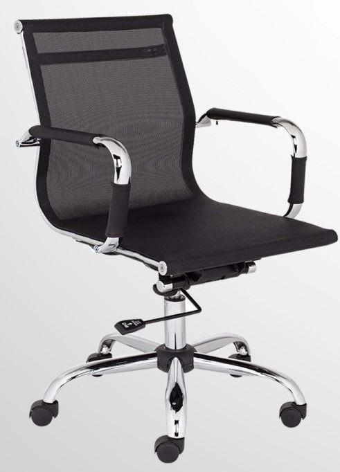 Кресло Slim Net LB (XH-633B Black) чёрный.  Низкая спинка.